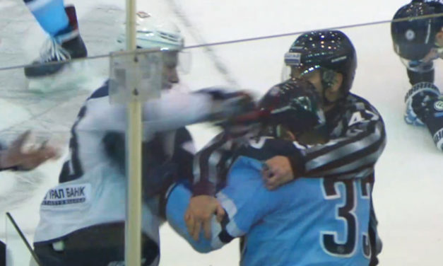 KHL Linesman Punched During Fight