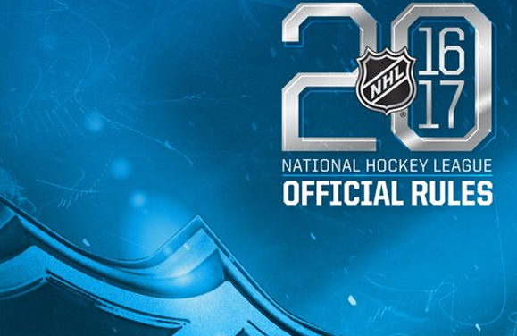 NHL Updates Rulebook for 2016-17
