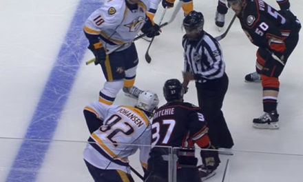 Linesman Hands Predators' Johansen Unsportsmanlike Penalty on Faceoff
