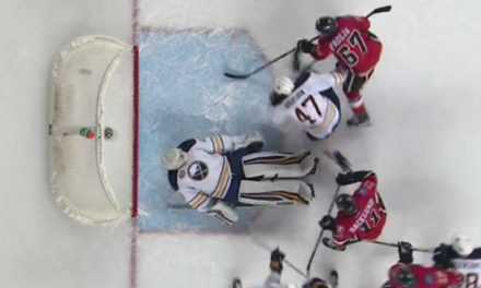 Flames' Frolik Beats Whistle to Score