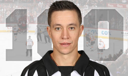 Referee TJ Luxmore Hits 100-Game Milestone