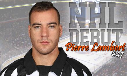 Referee Pierre Lambert to Make NHL Debut