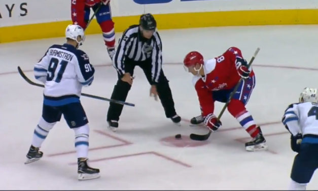 Jets' Burmistrov Misses Faceoff as Linesman Drops Puck