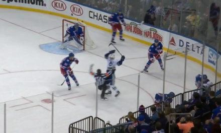 Canucks' Dorsett Takes Out Referee