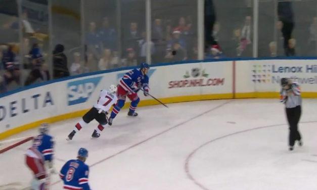 Ottawa Senators Score Off Referee