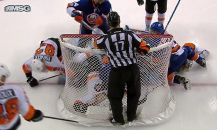 Flyers Goal Waved Off For Intent To Blow