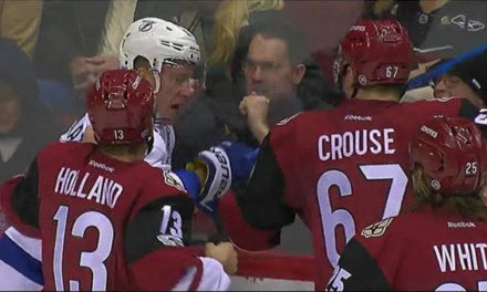 Coyotes' Holland Fined for Punching Unsuspecting Opponent