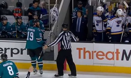 Sharks' Thornton Ejected for Spearing