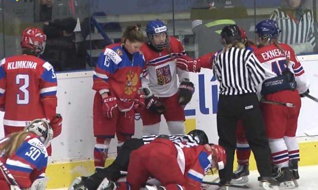 Russians, Czechs Brawl At Women's U18 World Championship