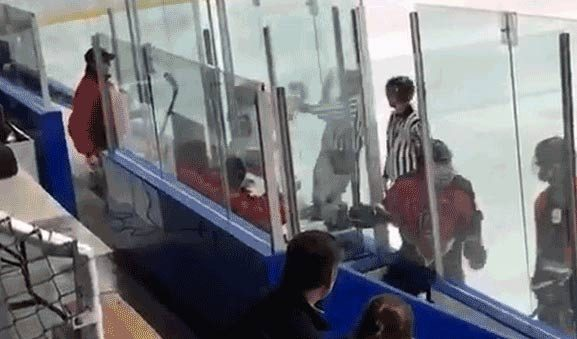 High School Hockey Player Ejected for Shoving Referee