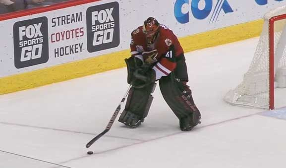 Trapezoid Costs Coyotes' Smith on Shorthanded Goal
