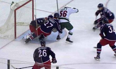 Wild Goal Disallowed After Haula Kicks Puck