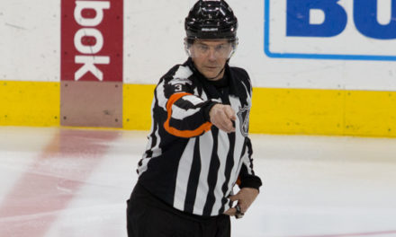 NHL Ref Mike Leggo Working Final NHL Game