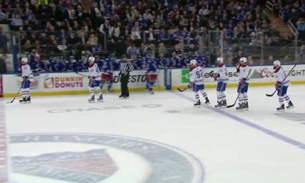 Canadiens Score Against Rangers in 7-on-7 Action