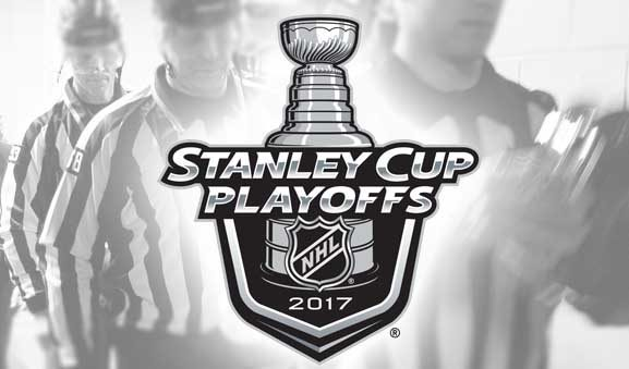 Tonight's NHL Playoff Referees & Linesmen – 5/9/17
