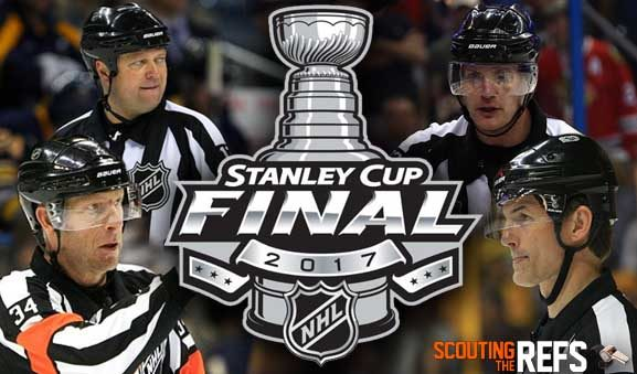 Tonight's NHL Stanley Cup Final Referees & Linesmen – Game 1 – 5/29/17