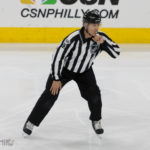 Linesman Vaughan Rody Honored for 1000th NHL Game