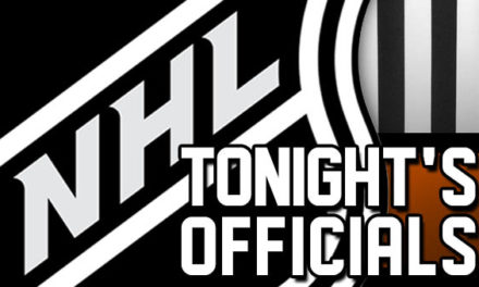 Tonight's NHL Referees and Linesmen – 12/18/17