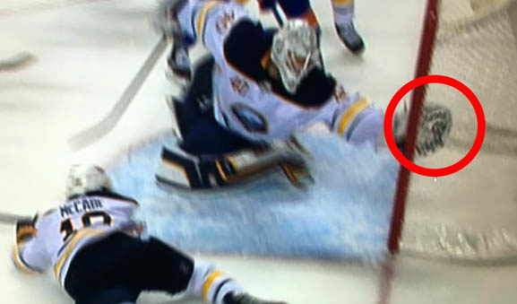 Buffalo Sabres Robin Lehner Allows Goal After Review