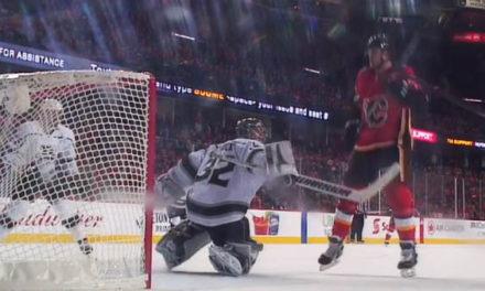 Flames' Jankowski Bunts In Go-Ahead Goal