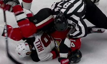 Sens' Burrows Suspended 10 Games for Kneeing Devils' Hall