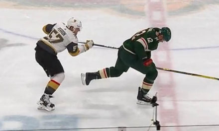 Wild Awarded Goal After Knights Take Penalty With Goalie Pulled