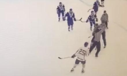 Fomer NHLer Andrei Kovalenko Sucker Punches Referee