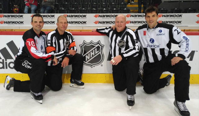 NHL Global Series Switzerland Referees and Linesmen