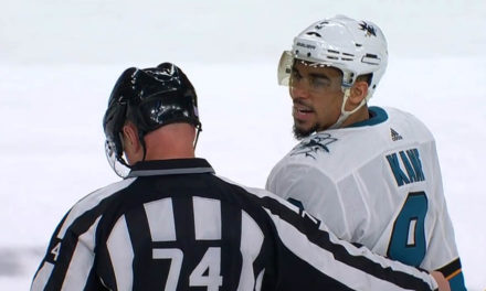 Sharks' Kane, DeBoer Both Ejected for Abuse of Officials After Arguing Call