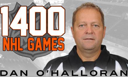 O'Halloran Hits 1400 Games