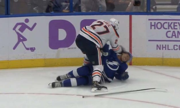 Oilers' Lucic Fined $10,000 for Roughing Bolts' Joseph