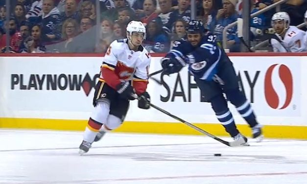 Jets' Byfuglien Fined $2,500 for Slashing Flames' Gaudreau