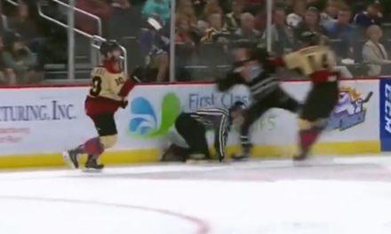 ECHL Linesman Charlie O'Connor Cut By Skate