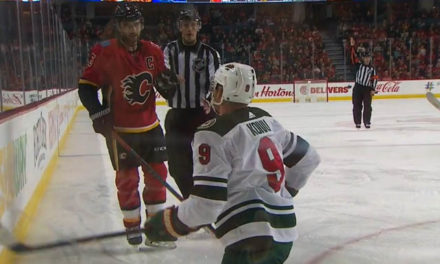 Flames' Giordano Suspended Two Games for Kneeing Wild's Koivu