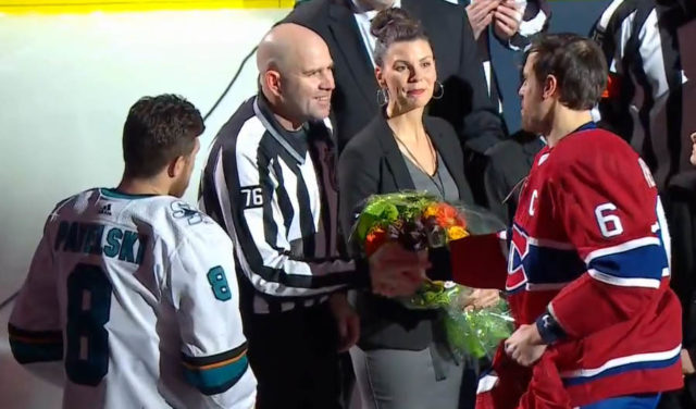 NHL Linesman Michel Cormier 1000 Games