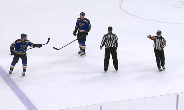 Blues' Tarasenko Picks Up Penalty for Parayko's Stick