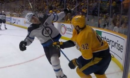 Preds' Johansen Suspended Two Games for Stick Chop on Jets' Scheifele