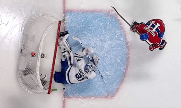 Canadiens Score With Net Knocked Off Moorings