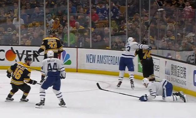 Leafs' Kadri Suspended for Crosschecking Bruins' DeBrusk