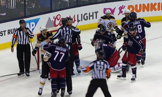 Bruins' Marchand Crosschecks Canes' Harrington, Avoids Discipline