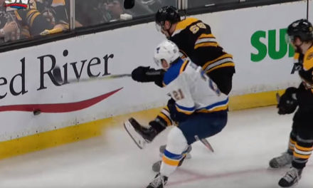 Blues Score After No Call on Bozak's Collision with Bruins' Acciari