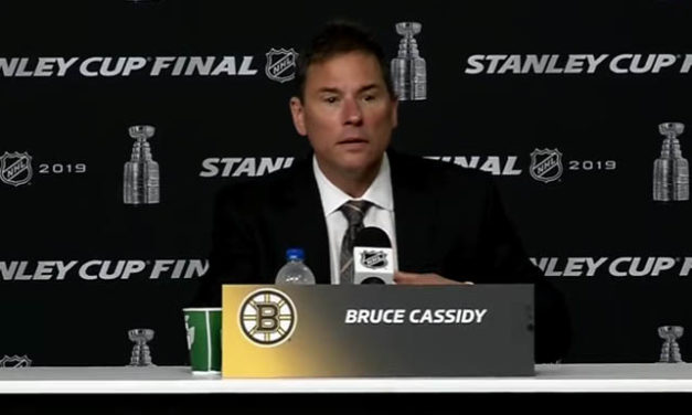 "Bruins' Cassidy Blasts ""Egregious"" Officiating After Non-Call Leads to Blues Game-Winner"