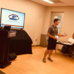 Shaun Morgan, USHL Director of Hockey Operations, and NCHC Referee Joe Sullivan discuss opportunities in officiating and the USA Hockey Officiating Development Program at the Tim Peel Referee Camp