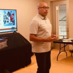 Retired NHL Linesman Jay Sharrers speaks to attendees at the 2019 Tim Peel Referee Camp