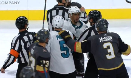 Sharks' Kane Ejected for Abuse of Officials After Shoving Linesman