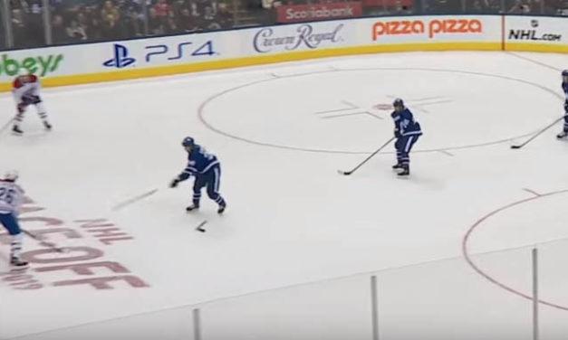 Leafs' Kapanen Throws Stick; Habs Score on Penalty Shot