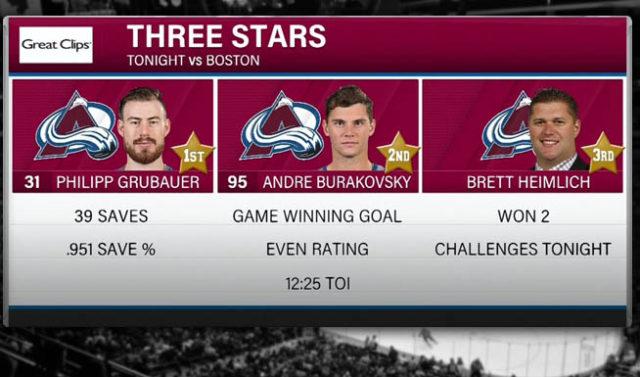Boston Bruins vs. Colorado Avalanche - Goal Waved Off After Coach's Challenge - Three Stars: Brett Heimlich