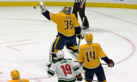 Preds' Rinne Throws Puck, Avoids Penalty Call