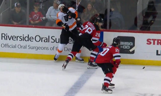 Penalty Waved Off After Flyers' Voracek Admits High Stick Missed Him