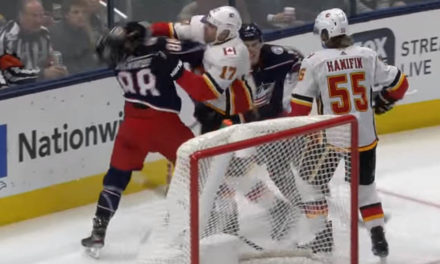 Flames' Lucic Faces Hearing for Roughing Jackets' Sherwood